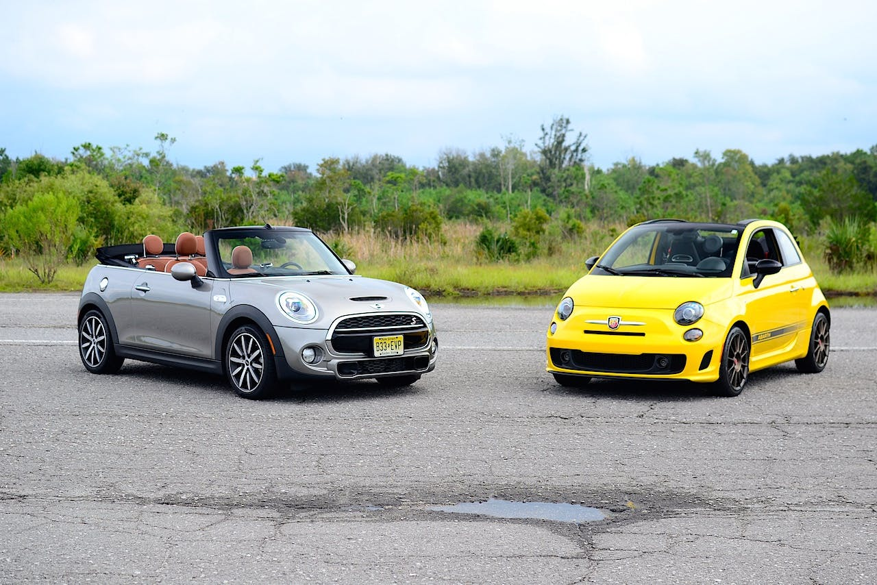 small cars, retro style: 2016 mini cooper vs. fiat 500 - carfax