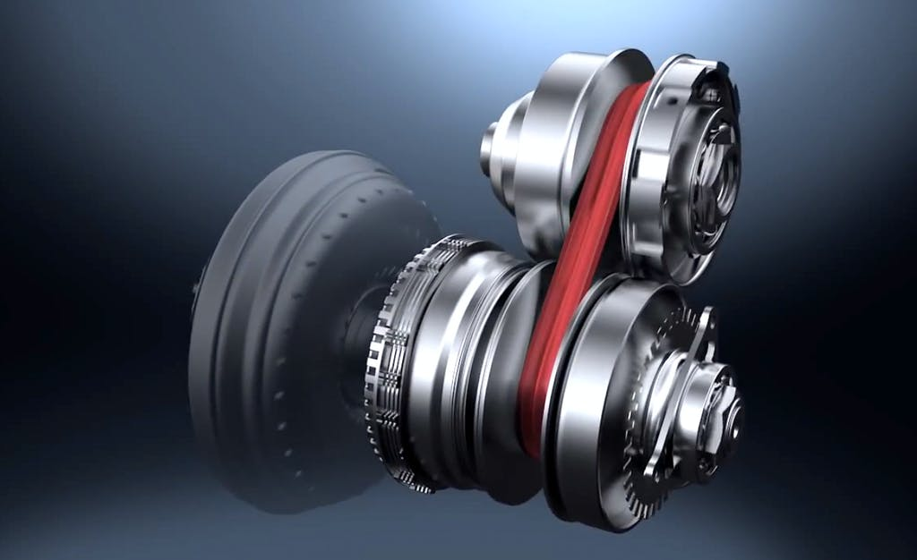 A Conventional Automatic Transmission Uses Complex Series Of Gears To Send The Engine S Wheels But Cvt Has No At All