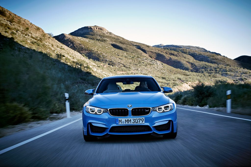 Blue BMW M3 Front End