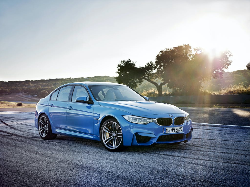 Blue BMW M3 Profile