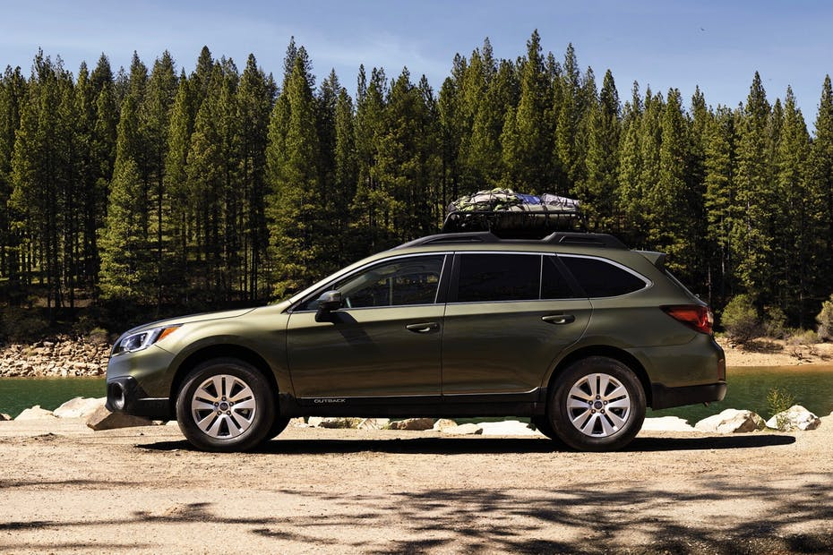 Subaru Outback with Roofrack Loaded