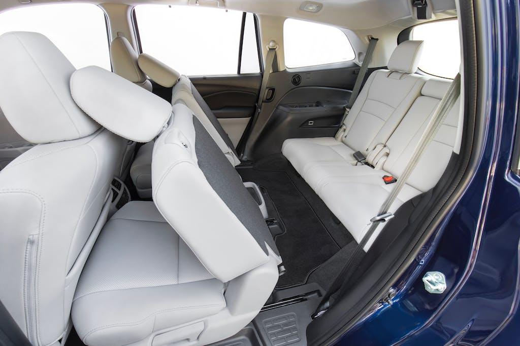 2019 Honda Pilot Elite Backseat with Seats Folded Down