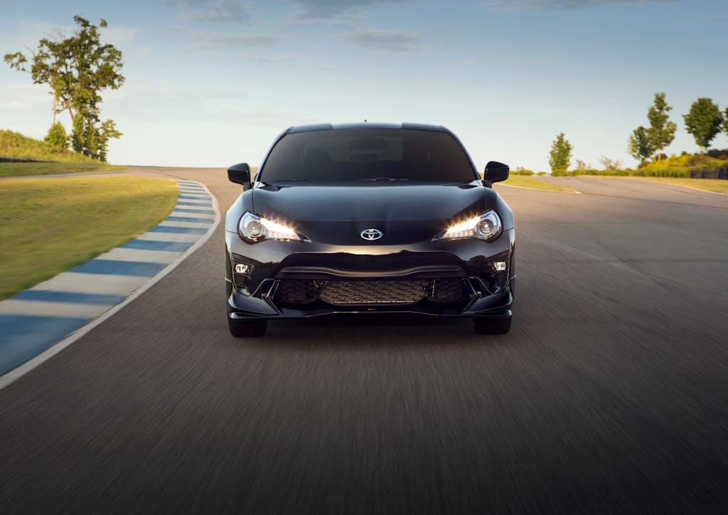 Black Toyota 86 Driving on Track
