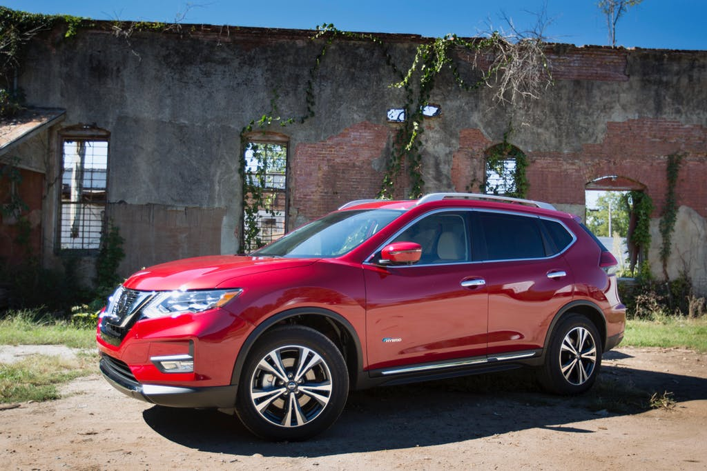 Red 2017 Nissan Rogue Hybrid