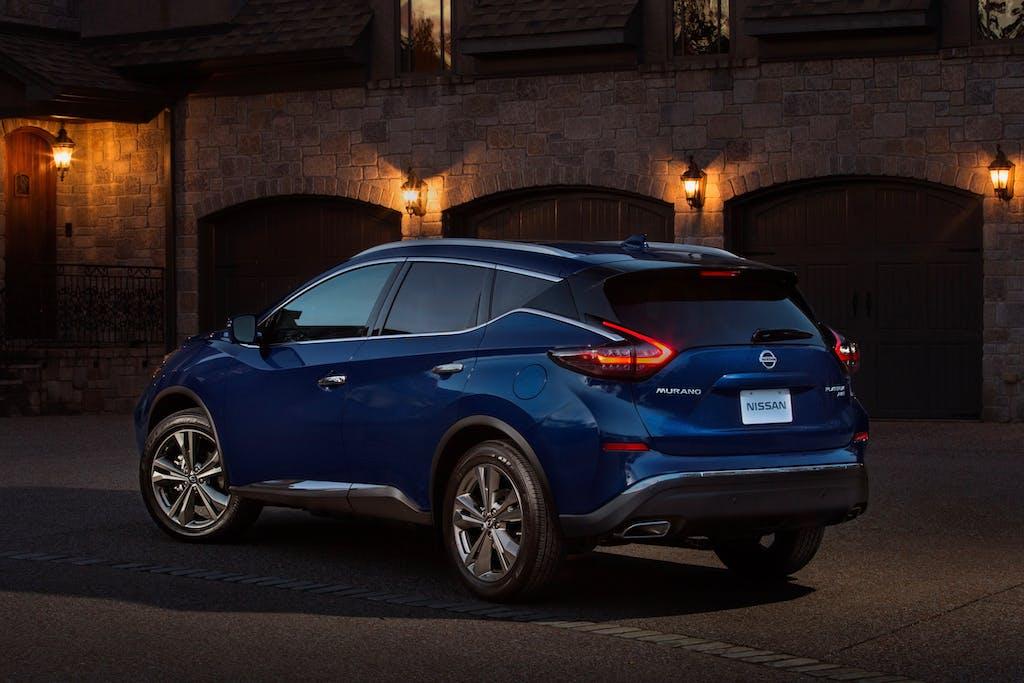 Blue Nissan Murano at Night