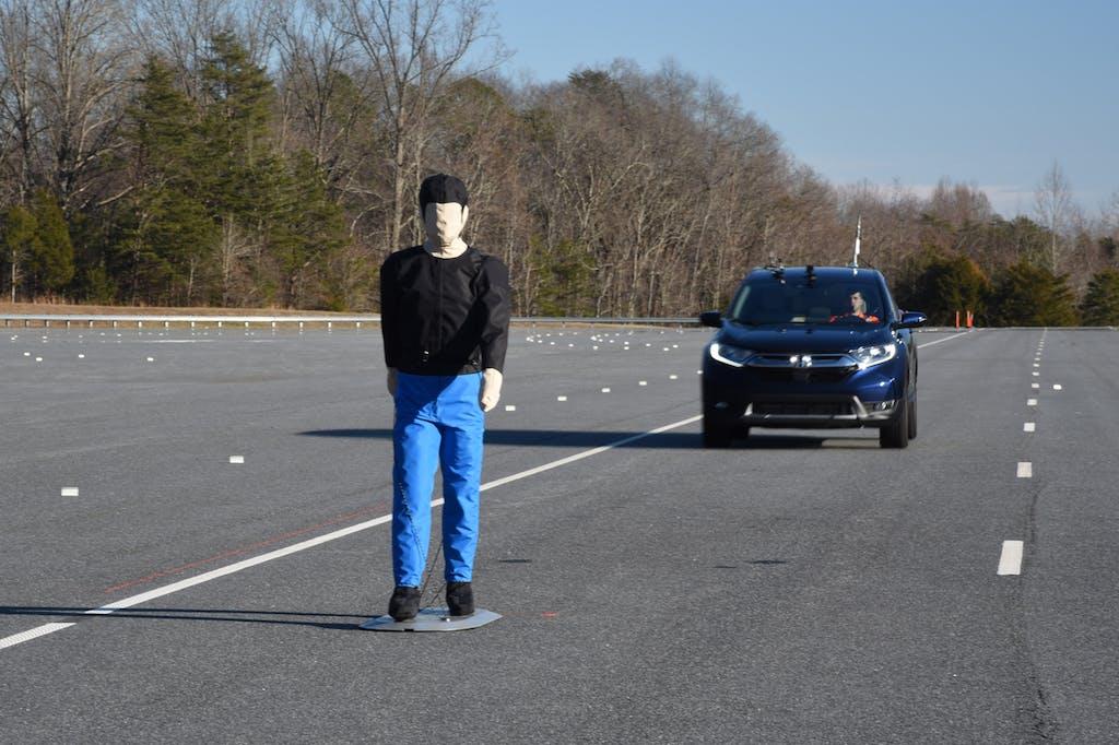 Honda CR-V Pedestrian Detection Testing