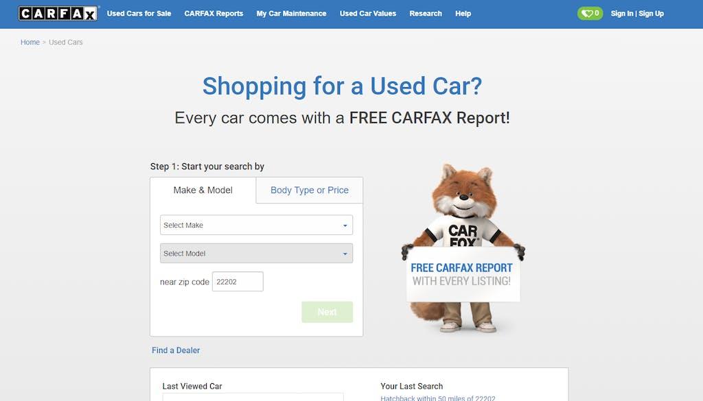 Carfax Used Car Listings 2019
