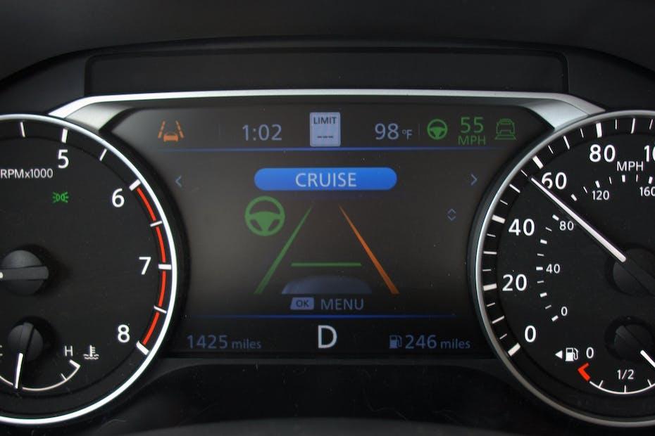 Lane Departure Warning Dashboard Display