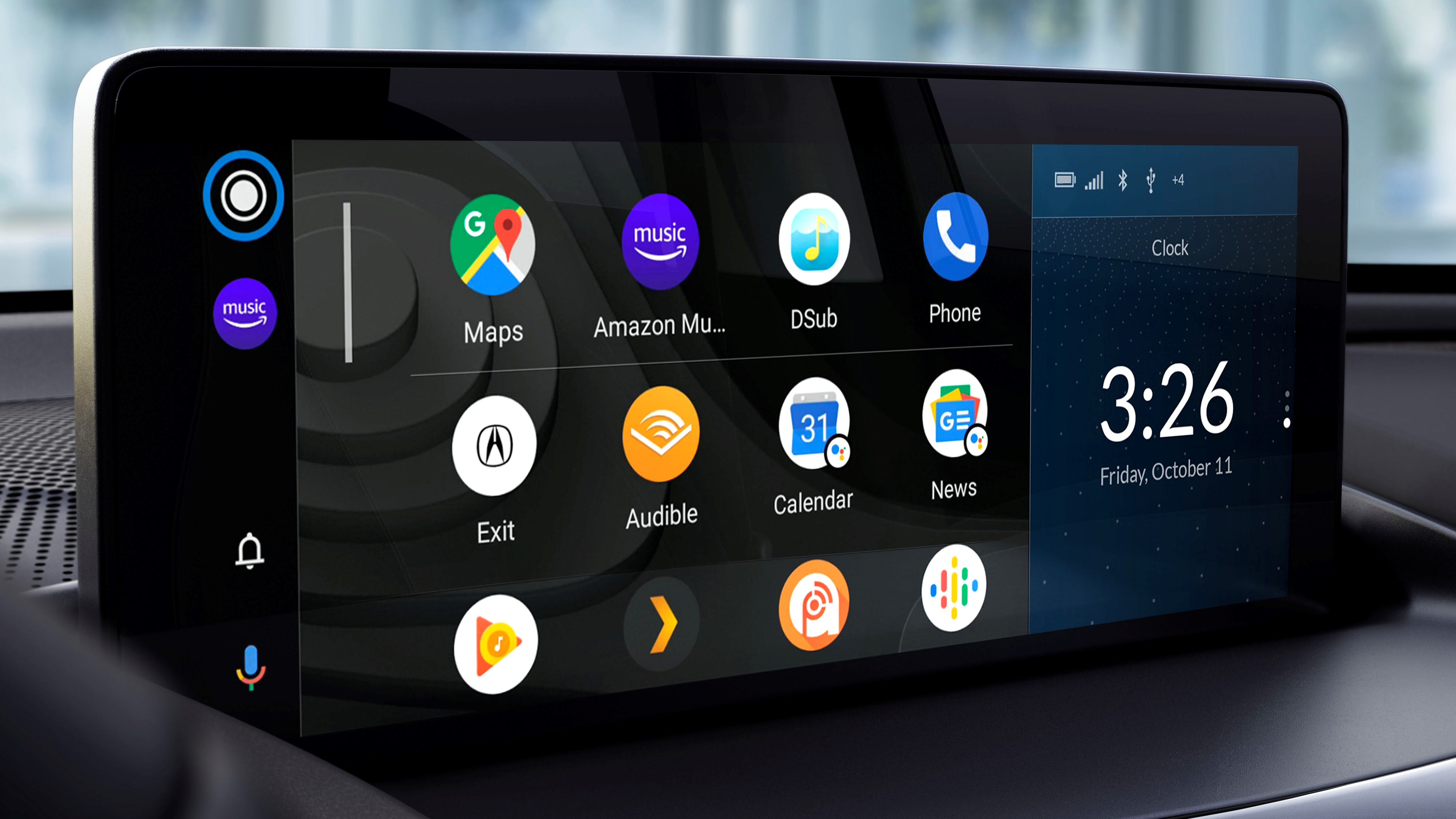 Android Auto Home Screen in 2020 Acura RDX