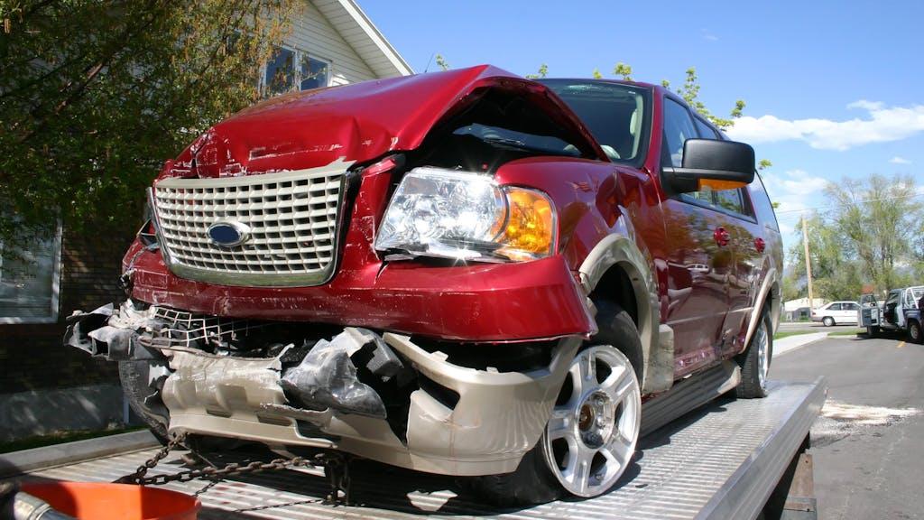 totaled car or car wreck
