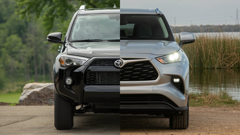 4WD Toyota 4Runner and AWD Toyota Highlander
