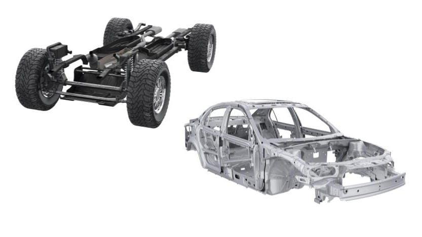 Unibody vs. Body-on-Frame Construction