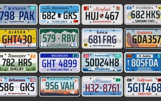 US State License Plates