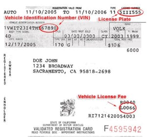 Vehicle what registration number is your How to