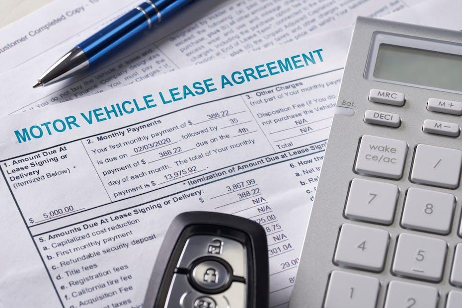 Car lease agreement