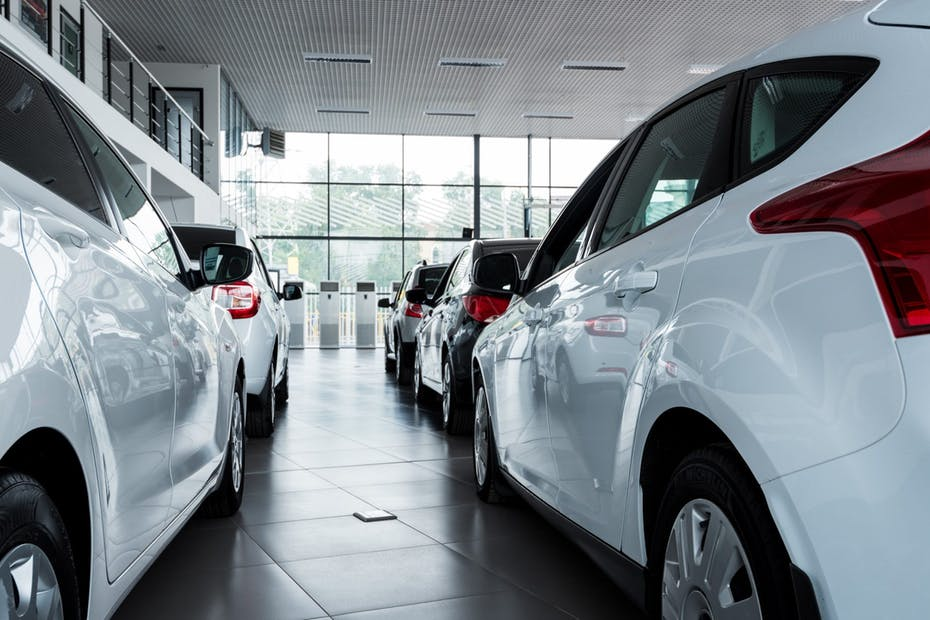 New cars at dealership