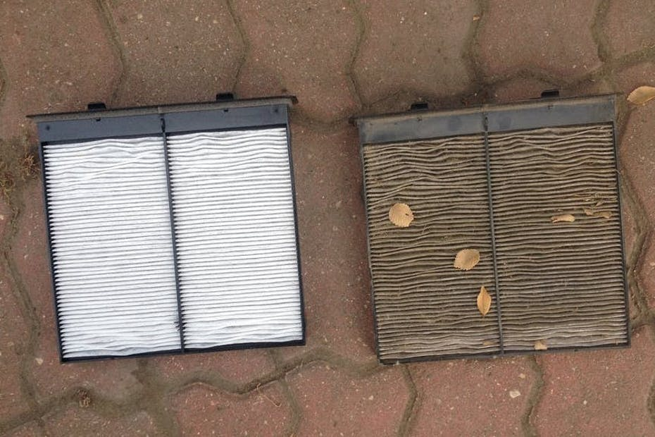 Cabin Air Filter Clean and Dirty