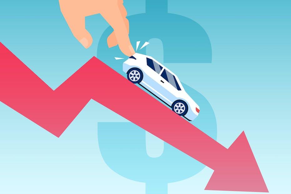 Car Depreciation Drawing