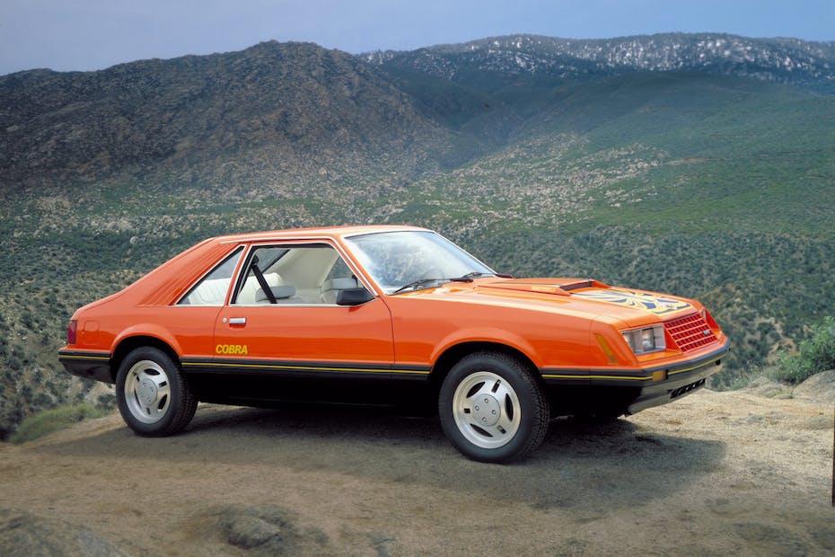 Orange 1979 Ford Mustang Cobra